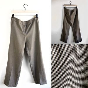 Nine West Separates Houndstooth Trouser Pants.